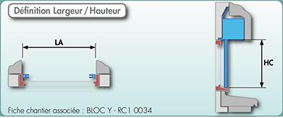 Volet roulant dimensionnement BLOC Y Bubendorff